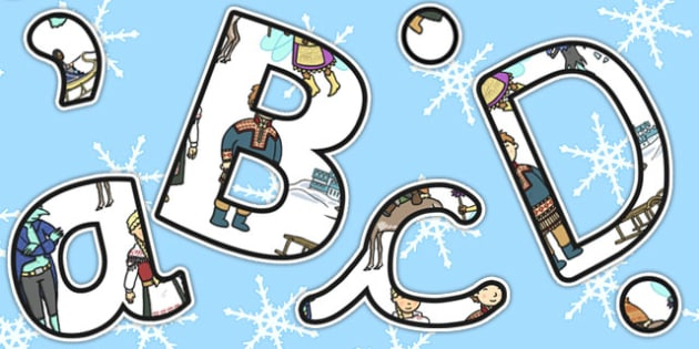 The Snow Queen Themed Size Editable Display Lettering - display