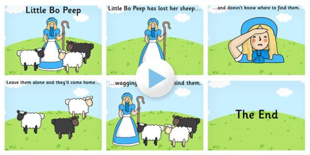 Little Bo Peep PowerPoint - little bo peep, little bo peep presentation, little bo peep powerpoint presentation, little bo peep sing along, nursery rhyme