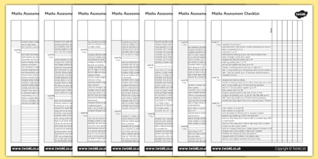 Maths Assessment Group Checklist-maths, maths assessment, assessment, group checklist, assessment checklist, checklist, group assessment, numeracy