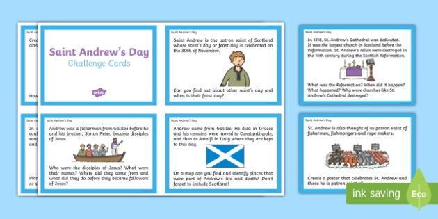 Saint Andrew's Day Challenge Cards-Scottish