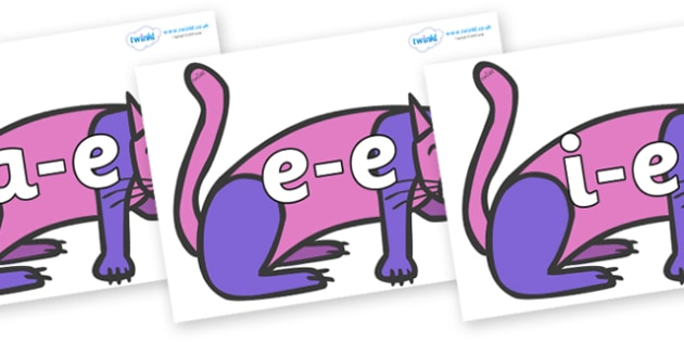 Modifying E Letters on Purple Cat to Support Teaching on Brown Bear, Brown Bear - Modifying E, letters, modify, Phase 5, Phase five, alternative spellings for phonemes, DfES letters and Sounds