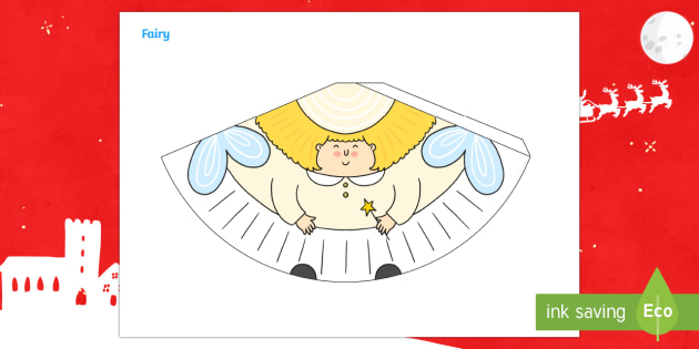Christmas Fairy Cone Character - Christmas crafts, christmas activities, 3d modelling, 3d crafts