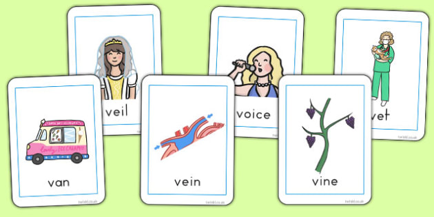 Initial 'v' Sound Playing Cards - australia, initial v, sound, playing, cards