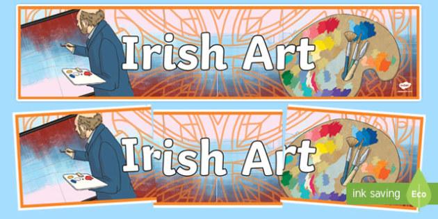 Irish Art Display Banner