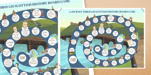 Journey Through Scottish History Board Game - journey, scottish, history, board game