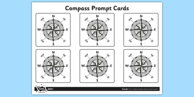 Compass Prompt Cards - compass, prompt cards, prompt, cards, directions