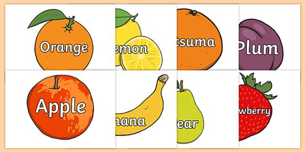 Fruit Words on Fruit - fruit, fruit words, keywords, word display