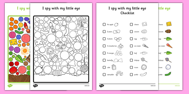 I Spy With My Little Eye Activity to Support Teaching on The Very Hungry Caterpillar - EYFS, KS1, Early Years, Key Stage 1, phonics, caterpillar