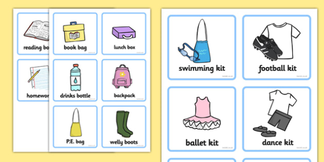 SEN Communication Cards Things To Remember (Girl) - education, home school, child development, children activities, free, kids, special needs, communication cards
