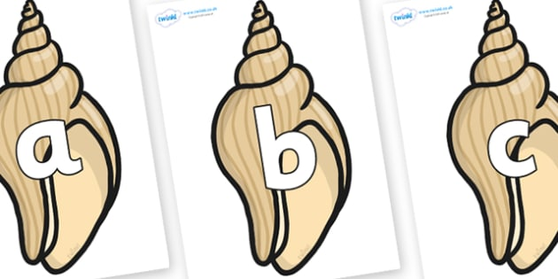 Phoneme Set on Conch Shells - Phoneme set, phonemes, phoneme, Letters and Sounds, DfES, display, Phase 1, Phase 2, Phase 3, Phase 5, Foundation, Literacy