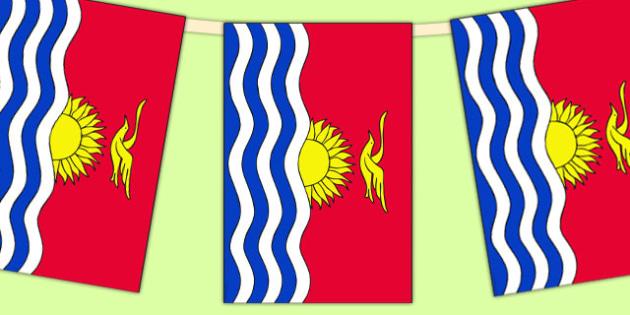Kiribati Flag Display Bunting - countries, geography, flags