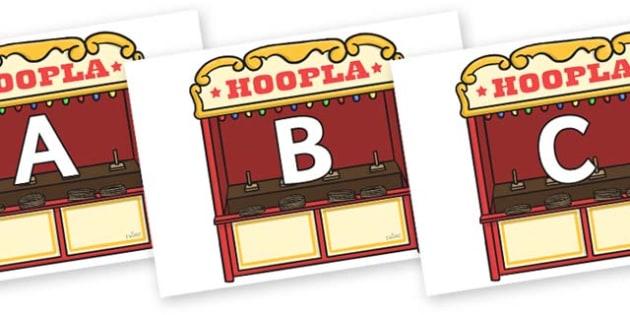 A-Z Alphabet on Hoopla Stands - A-Z, A4, display, Alphabet frieze, Display letters, Letter posters, A-Z letters, Alphabet flashcards