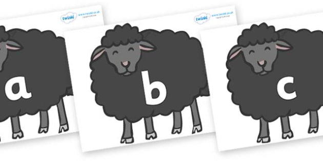 Phase 2 Phonemes on Baa Baa Black Sheep - Phonemes, phoneme, Phase 2, Phase two, Foundation, Literacy, Letters and Sounds, DfES, display