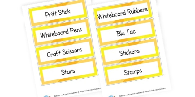 Extra Drawer Labels - Drawer & Peg Name Labels Primary Resources, Name Label, Label, Peg