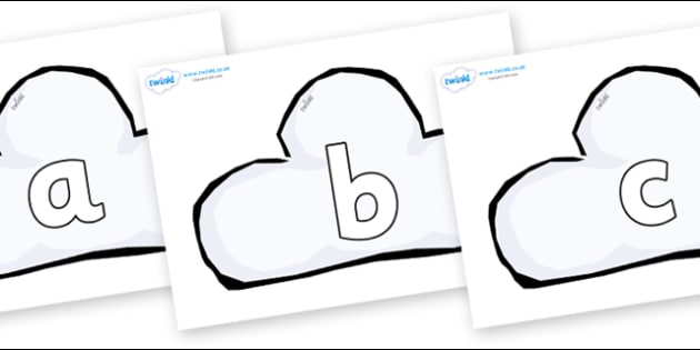 Phoneme Set on Weather Symbols (Cloud) - Phoneme set, phonemes, phoneme, Letters and Sounds, DfES, display, Phase 1, Phase 2, Phase 3, Phase 5, Foundation, Literacy