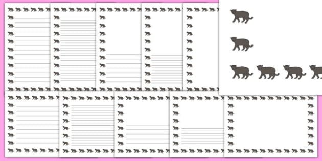 Panther Page Borders - panther, page borders, page, borders