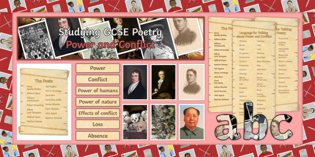 GCSE Poetry AQA Power and Conflict Cluster Display Pack