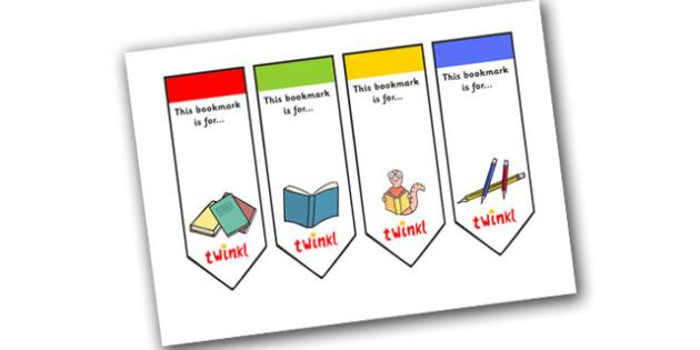 Editable Literacy Bookmarks - Bookmark, literacy, gift,  present, book, reading, reward, achievement