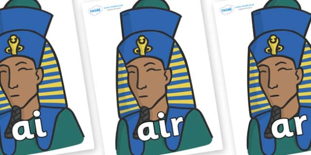 Phase 3 Phonemes on Pharaohs - Phonemes, phoneme, Phase 3, Phase three, Foundation, Literacy, Letters and Sounds, DfES, display