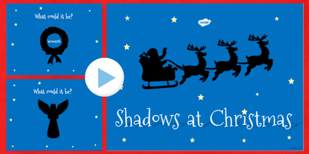 Christmas Themed Shadow PowerPoint - christmas, shadow, activity