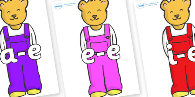 Modifying E Letters on Bears to Support Teaching on Whatever Next! - Modifying E, letters, modify, Phase 5, Phase five, alternative spellings for phonemes, DfES letters and Sounds