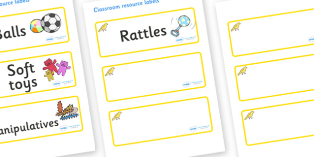 Canary Themed Editable Additional Resource Labels - Themed Label template, Resource Label, Name Labels, Editable Labels, Drawer Labels, KS1 Labels, Foundation Labels, Foundation Stage Labels, Teaching Labels, Resource Labels, Tray Labels, Printable l