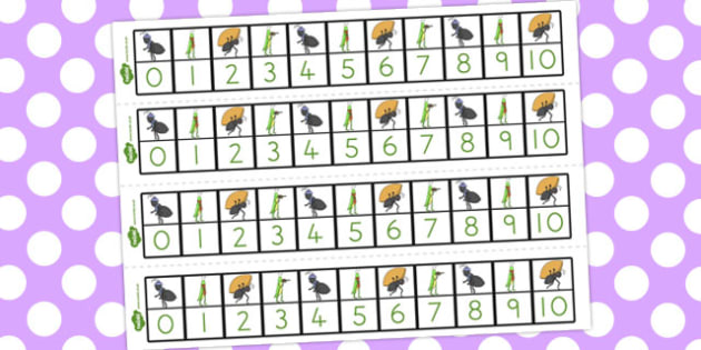 The Ant and the Grasshopper Number Track 1-10 - numbers, numeracy