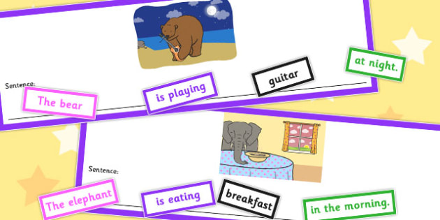 Who What Doing To What When Unusual Sentence Cut Up Cards - cards