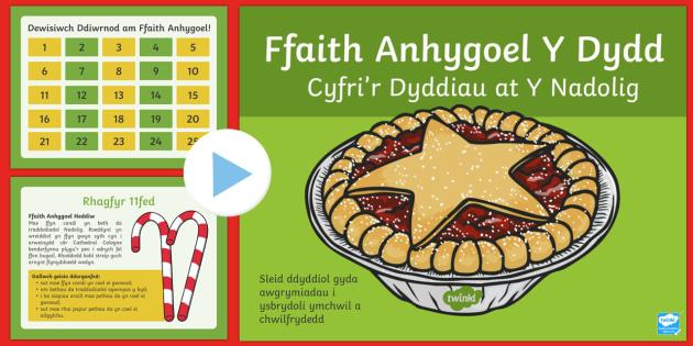 Pŵerbwynt Ffaith Anhygoel y Dydd - Dysgu Cymraeg fel Ail Iaith, calendr adfent dosbarth, ffaith anhygoel y dydd, nadolig, amazing fact