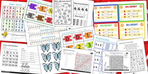 Parents KS1 Maths Resource Pack - parents, ks1, maths, pack