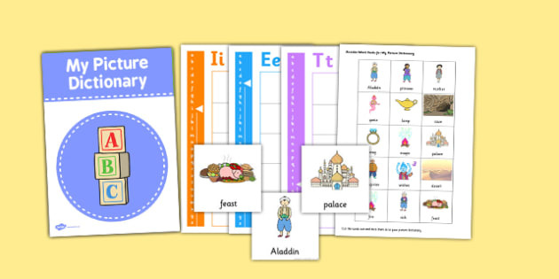 Aladdin Picture Dictionary and Word Card Set - picture dictionary