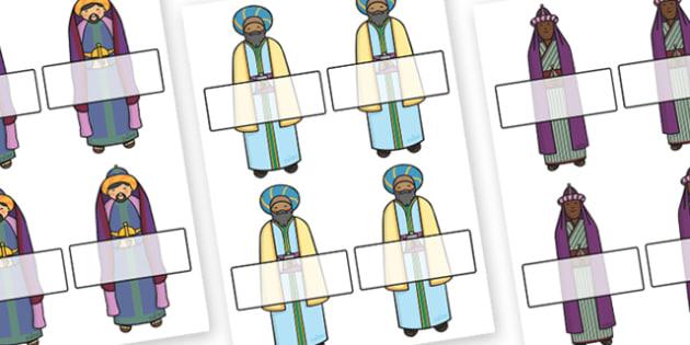 Christmas Editable Self Registration Kings - christmas, xmas, self registration, self-registration, self registration kings, kings, christmas kings, the three gings, nativity, editable, editable labels, editable self registration labels, labels, regi
