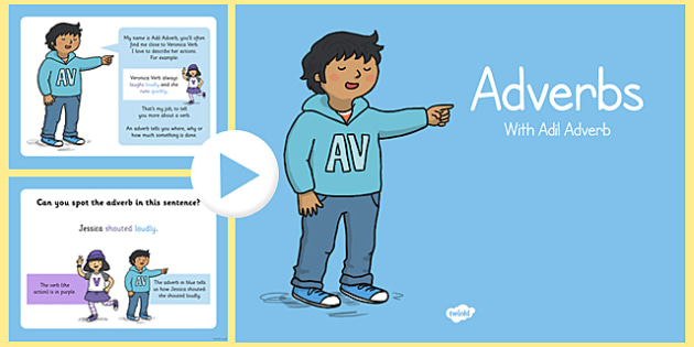 Adverbs PowerPoint - adverbs, powerpoint, presentation, words