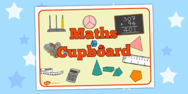 Maths Cupboard Sign - maths cupboard, sign, maths, cupboard