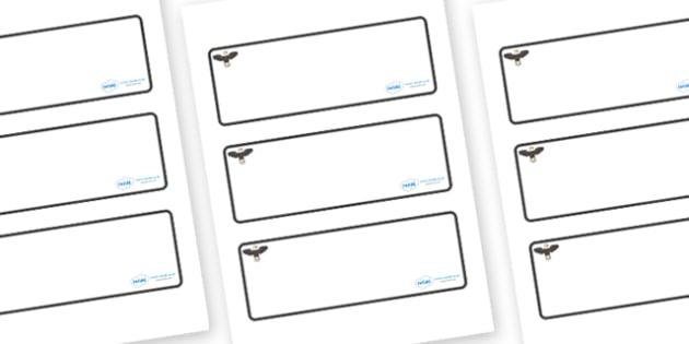 Eagle Themed Editable Drawer-Peg-Name Labels (Blank) - Themed Classroom Label Templates, Resource Labels, Name Labels, Editable Labels, Drawer Labels, Coat Peg Labels, Peg Label, KS1 Labels, Foundation Labels, Foundation Stage Labels, Teaching Labels