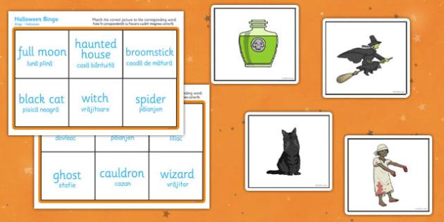 Halloween Bingo Romanian Translation - romanian, halloween, hallowe'en, bingo, game,haloween,halloweeen,hallowen