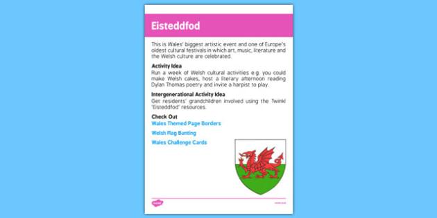 Elderly Care Calendar Planning July 2016 Eisteddfod - Elderly Care, Calendar Planning, Care Homes, Activity Co-ordinators, Support, July 2016