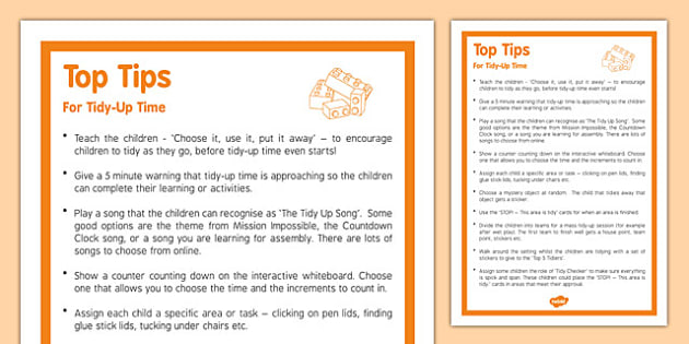 Top Tips for Tidy-Up Time - top tips, tidy up, time, tidy up time, top, tips