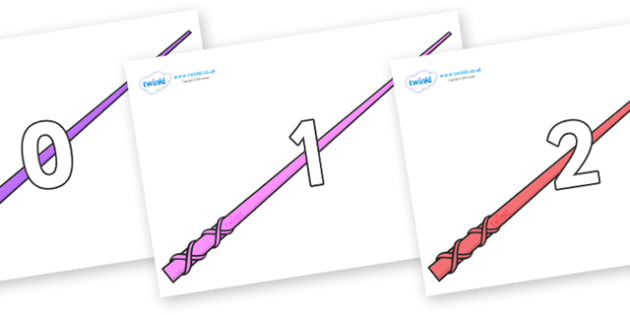 Numbers 0-50 on Wands - 0-50, foundation stage numeracy, Number recognition, Number flashcards, counting, number frieze, Display numbers, number posters