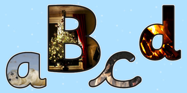 Winter Themed Photo Size Editable Display Lettering - winter