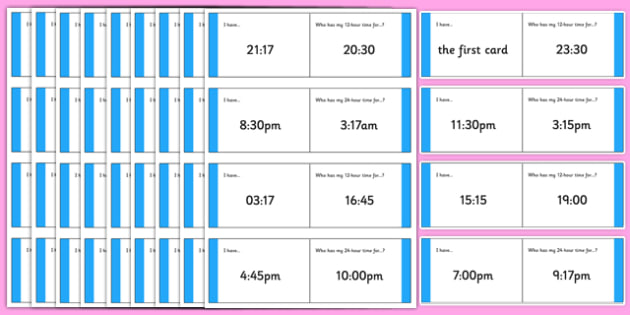 Australian Year 5-6 Numeracy 12 and 24 hour Time Loop Cards - australia, Australian Curriculum, time, loop Cards, 12-hour time, 24-hour time, converting, measurement, comparing, talking, listening, numeracy, year 5, MA3-13MG, ACMMG110