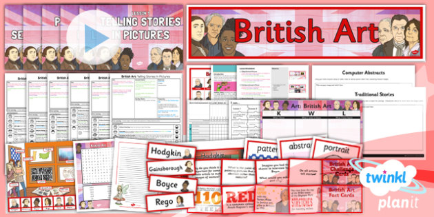 Planit - Art LKS2 - British Art Unit Pack - planit, unit, pack