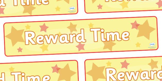 Reward Time Display Banner - reward, award, reward time, display, banner, sign, poster, rewarding