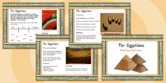 1 Week Egyptian Topic Morning Activities LKS2 - ancient egypt