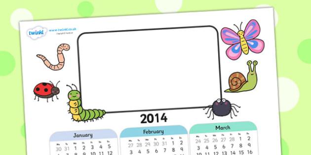 2014 Minbeast Themed Editable Calendar - minibeast, editable calendar, calendar, editable, themed calendar, date, photo calendar, themed editable calendar