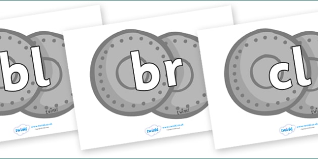 Initial Letter Blends on Shields - Initial Letters, initial letter, letter blend, letter blends, consonant, consonants, digraph, trigraph, literacy, alphabet, letters, foundation stage literacy