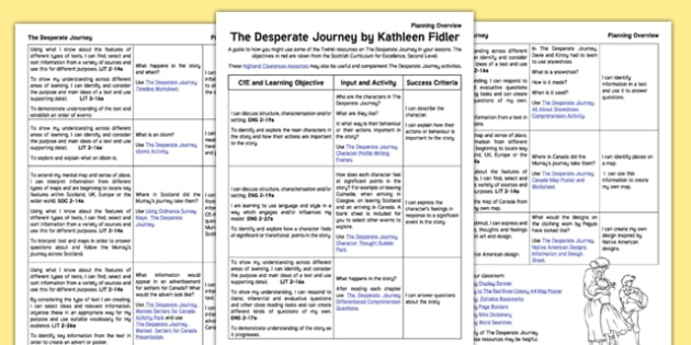 Planning Overview to Support Teaching on The Desperate Journey - The Highland Clearances, Scottish history, Scotland, Highlands, emigration, Canada, cfe, curriculum for excellence, scottish, canada