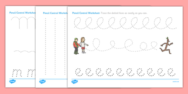 Pencil Control Sheets to Support Teaching on Stick Man - pencil control, support, teaching, stick man