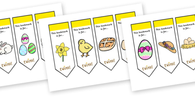 Editable Easter Bookmarks - Bookmark, bookmark template, Easter, gift,  present, book, reward, achievement, Easter, bible, egg, Jesus, cross, Easter Sunday, bunny, chocolate, hot cross buns