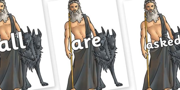 Tricky Words on Hades - Tricky words, DfES Letters and Sounds, Letters and sounds, display, words